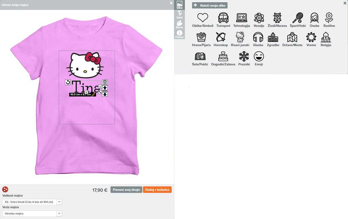Majice4you spletni oblikovalec