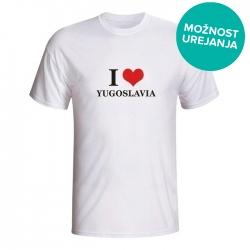 Moška majica I love yugoslavia