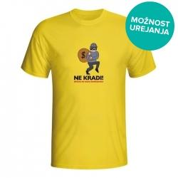 Moška majica Ne kradi država ne mara konkurence
