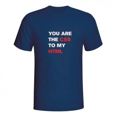 Moška majica You are the CSS to my HTML