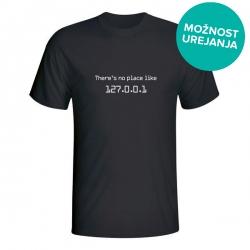 Moška majica There's no place like 127.0.0.1