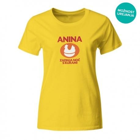 Ženska majica Anina zadnja noč s kurami