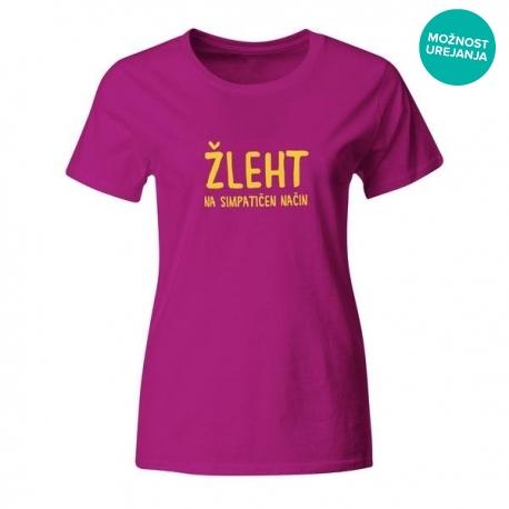 Ženska majica Žleht na simpatičen način