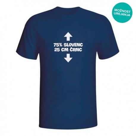 Moška majica 75% slovenc 25cm črnc