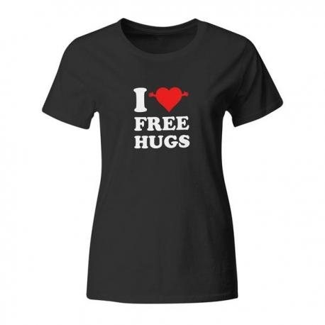 Ženska majica I love free hugs