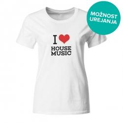 Ženska majica I love house music