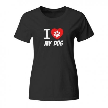 Ženska majica I love my dog