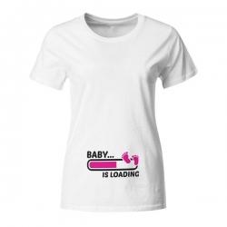 Nosečniška majica Baby is loading