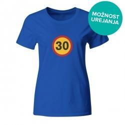 Ženska majica za Rojstni dan prometni znak