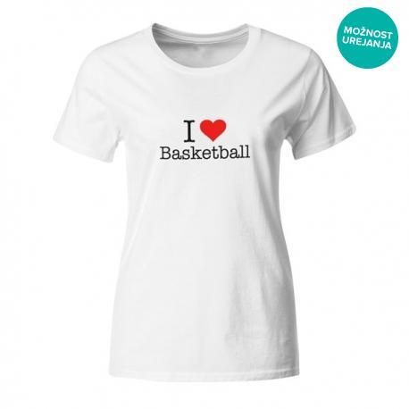 Ženska majica I love basketball