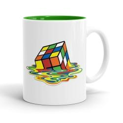 Skodelica Stopljena Rubikova kocka