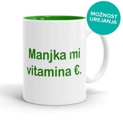 Skodelica Manjka mi vitamina €