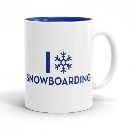 Skodelica I love snowboarding