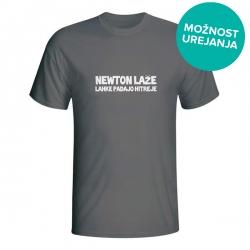 Moška majica Newton laže, lahke padajo hitreje