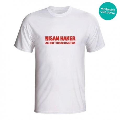 Moška majica Nisam haker ali bih ti upao u sistem