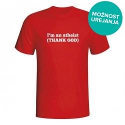 Moška majica I'm an atheist (thank god)