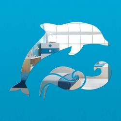 Dekorativno stensko ogledalo Delfin