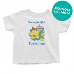 Otroška majica Vse najboljše zvezdice