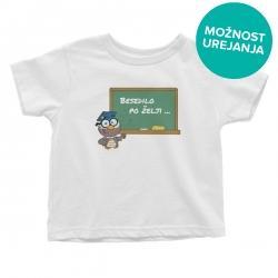 Otroška majica Sova in tabla