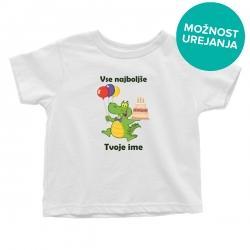Otroška majica Vse najboljše krokodilček