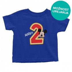 Otroška majica Rojstni dan Mickey Mouse (ime in letnica po želji)