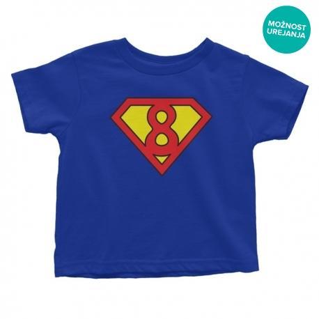 Otroška majica Rojstni dan superman (poljubna letnica)