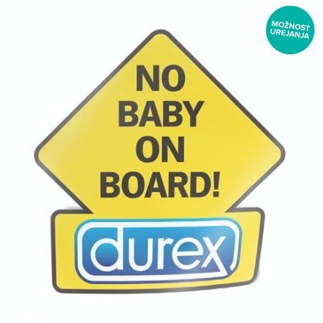 no baby on board durex