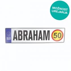 Nalepka za avto tablica z imenom Abraham
