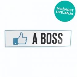 Nalepka za avto tablica like a boss