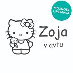 Nalepka za avto Hello Kitty
