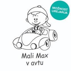Nalepka za avto mali fantek v avtu