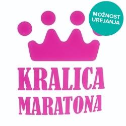 Nalepka za avto Kraljica Maratona