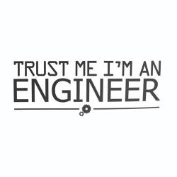 Nalepka za avto Trust me i'm an engineer