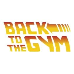 Nalepka za avto Back to the Gym