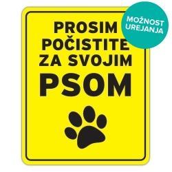 Pasja tablica prosim počistite za svojim psom