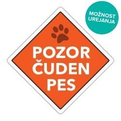 Smešna pasja tablica pozor hud pes