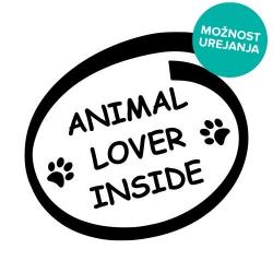 Animal lover inside nalepka za avto