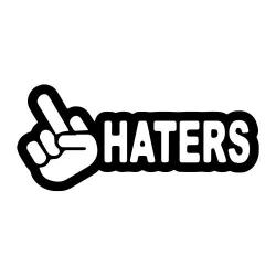 Smešna nalepka haters nalepka za avto