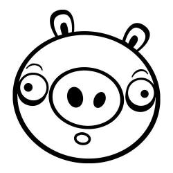 Bad Piggie nalepka za avto