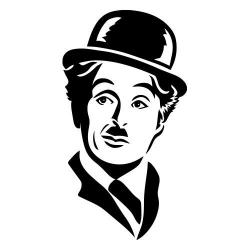 Charlie Chaplin nalepka za avto