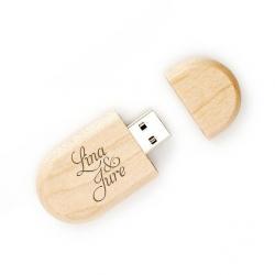 Leseni USB ključek z gravuro po želji