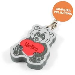 Panda obesek za ključe z gravuro
