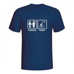Moška majica Problem rešen (kolesarjenje)