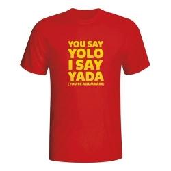 Moška majica You say yolo I say yada