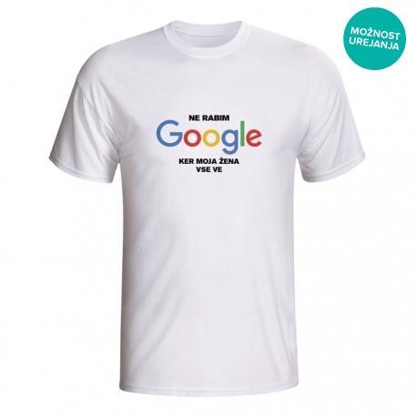 Moška majica Ne rabim Google, ker moja žena vse ve