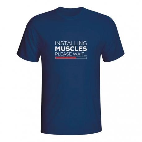 Moška majica Installing muscles please wait