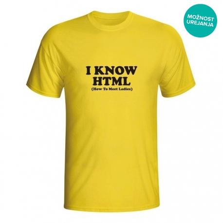 Moška majica I know HTML