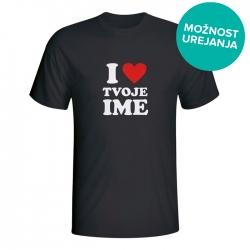 Moška majica I love tvoje ime
